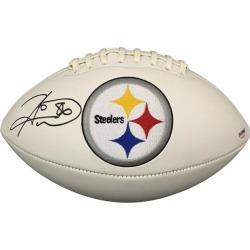Hines Ward Signed Pittsburgh Steelers Logo Football PSA