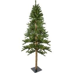 6' Pre-Lit Alpine Artificial Christmas Tree - Clear Lights
