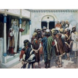 Posterazzi SAL99989 Moses Speaks to the People James Tissot 1836-1902 French Jewish Museum New York USA Poster Print - 18 x 24 in.