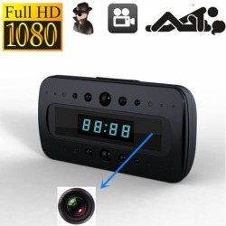 Full HD 1920*1080P Desk Table Alarm Clock Mini Hidden Camera DVR Recorder IR Night Vision with Motion Detection Remote Control