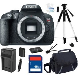 Canon EOS Rebel T5i 18.0 MP CMOS Digital Camera with 3-inch Touchscreen and Full HD Movie Mode (Body Only), Beginner's Bundle Kit, 8595B001