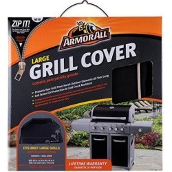 Armor All Grill Covers - Supports Grill - Rectangular - UV Resistant, Cold Resistant, Crack Resistant, Hook & Loop Closure, Durable, Ventilated.