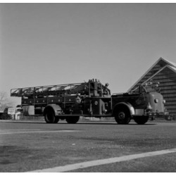 Posterazzi SAL255422017 Hook & Ladder Truck Poster Print - 18 x 24 in.