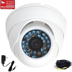 VideoSecu Outdoor Indoor Vandal-proof Infrared Day Night Vision Surveillance IR Security Camera Built-in 1/3 inch CCD 3.6mm Wide Angle View with Power