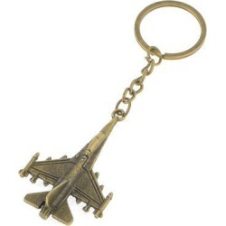 Unique Bargains Bronze Tone Metal Aircraft Model Design Pendant Keychain Key Holder