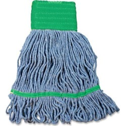Impact Products Cotton/Synthetic Blend Saddle-Type Looped-End Wet Mop with Tailband