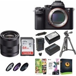 Sony Alpha a7RII Mirrorless Digital Camera (Body Only) with Sony Carl Zeiss Sonnar T* E 24mm F1.8 ZA Lens and Accessory Bundle