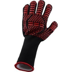 Heat Resistant BBQ Gloves Silicone for Barbecue, Cooking, Baking Red