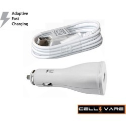 Micro USB 2.0 Amp Car/Vehicle/RV/Boat for Galaxy S2, S3, S4 & Devices from LG, HTC, Huawei & Motorola-White