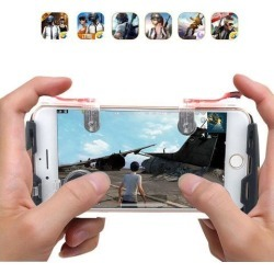 Game Gamepad for Mobile Phone Game Controller + Auxiliary Quick Button for IPhone Transparent