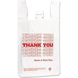 Inteplast Group T-Shirt Thank You Bag 12 x 7 x 13 14 Microns White 500/Carton