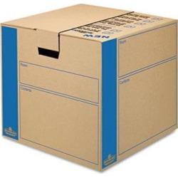 Bankers Box 0062801 SmoothMove Moving Storage Box- Extra Strength- Medium- 18w x 18d x 16h- Kraft