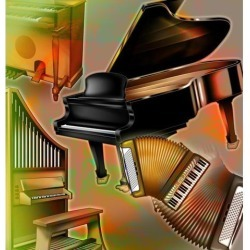 Posterazzi DPI1796729 Musical Instruments with Keyboards Poster Print by Design Pics Eye Traveller, 14 x 15