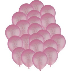 20pcs Birthday Balloon Party Anniversary Decoration Age Number 20th Pink