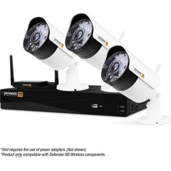 Defender Wireless HD 1080p 4 Channel 1TB DVR Security System with Smart Adaptive Wireless Technology and 3 Long Range Night Vision Bullet Cameras found on Bargain Bro India from Newegg for $349.99