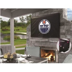 Holland Bar Stool TV30EdmOil Edmonton Oilers Vinyl TV Cover, Black