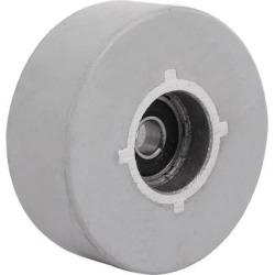65mmx8mmx25mm Rubber Coated Steel Pinch Roller Rolling Wheel Gray