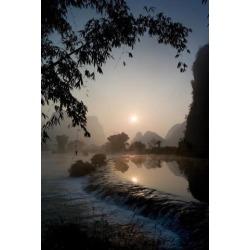 Posterazzi DPI1846209 Frozen Pond in Mountain Area - Yulong River Yangshuo China Poster Print, 13 x 20