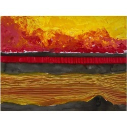 Posterazzi DPI12268192 Painting of A Colourful Sunset Reflected in Water & The Horizon Poster Print - 17 x 13 in.