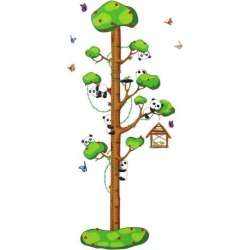 Unique Bargains Panda Tree Growth Height Measure Chart Pattern Wall Sticker DIY Wallpaper found on Bargain Bro Philippines from Newegg Canada for $12.21