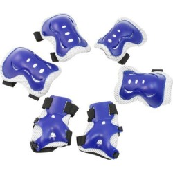 Unique Bargains Adjustable Kids Sports Protective Gear Wrist Support Guard Elbow Knee Pads Set