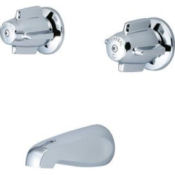 Central Brass Two Handle Tub Set