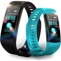 Smart Watch Fitness Bracelet Heart Rate Monitor IP67 Waterproof Color Screen Sport Tracker Watch black