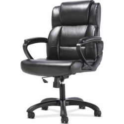 The Sadie HVST305 office chair features luxurious SofThread leather for an upscale look and feel, making it a smart and