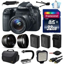 Canon EOS 70D DSLR SLR Digital Camera with 18-55mm Lens (32GB Essential Bundle)