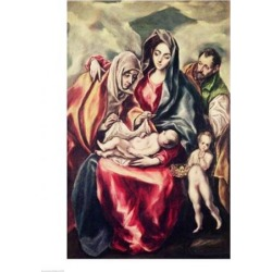 Posterazzi BALXIR157907LARGE The Holy Family Poster Print by El Greco - 24 x 36 in. - Large