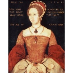 Posterazzi SAL900101062 Queen Mary I 1544 Master John 16th C British Oil on Wood Panel National Portrait Gallery London England Poster Print - 18 x.