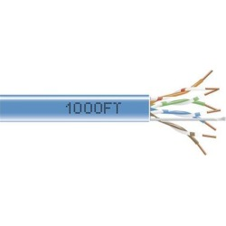 Black Box EYN850A-PB-1000 CAT5e 350-MHz Solid Bulk Cable - Unshielded, Plenum, Blue, 1000 ft. Pull Box