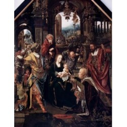 Posterazzi SAL9003464 The Worship of the Kings 15th Century Poster Print - 18 x 24 in.