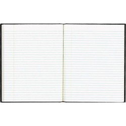 Blueline A7E-BLK EcoLogix Notebook, 7 1/4 x 9 1/4, 150 Pages, College Ruled, Hard Cover, Black