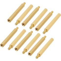 12Pcs M3 Male/Female Brass PCB Spacer Hex Standoff Screw Pillar 35mm