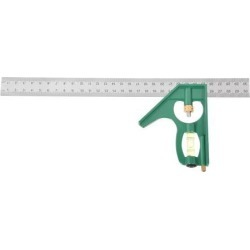 """300mm/ 12"""" Combination Square Try Square Ruler Stainless Steel Carpenter Tools Green"""