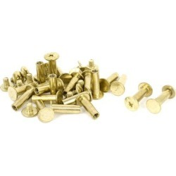 Unique Bargains Brass Plated 5x15mm Binding Chicago Screw Post 20pcs for Leather Scrapbook found on Bargain Bro Philippines from Newegg Canada for $11.03
