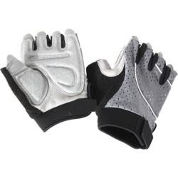 Unisex Outdoor Bike Riding Cycling Gloves Half Finger Summer Anti-slip Gray S
