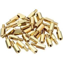 35pcs M3 9+6mm Female Male Thread Brass Hex Standoff Spacer Screws PCB Pillar