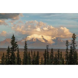 Posterazzi DPI12303906 Mount Drum Rises Into The Clouds Off Tok Cutoff North of Glennallen - Alaska United States of America Poster Print by.