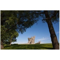 Posterazzi PDDEU46WBI0013 Lithuania Kaunas Ninth Fort Monument Wwii Poster Print by Walter Bibikow - 35 x 23 in.