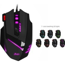 ZELOTES T-60 T60 Professional USB Wired Optical 7200DPI Adjustable 7 Buttons Gaming Mouse Mice Gamer with LED Backlight For PC