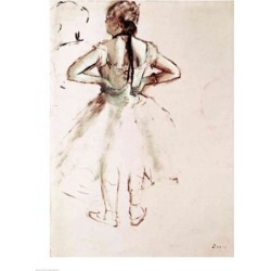 Posterazzi BALXIR178953LARGE Dancer Viewed From The Back Poster Print by Edgar Degas - 24 x 36 in. - Large