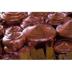 Copper kettles, Lijiang Market, Lijiang, Yunnan Province, China Poster Print by Walter Bibikow DanitaDelimont (35 x 23)