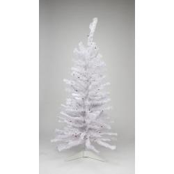 2' Pre-lit White Iridescent Pine Artificial Christmas Tree - Pink/Purple Lights