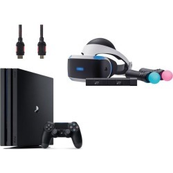 PlayStation VR Starter Bundle (4 Items): PlayStation 4 Pro 1TB Console, VR Headset, 2 Move Motion Controllers, and PlayStation Camera