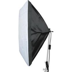 Global Bargains US Plug 60cmx60cm Four Flash Holder Umbrella Softbox Kit for Photo Video Studio
