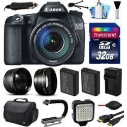 Canon EOS 70D DSLR SLR Digital Camera with 18-135mm Lens (32GB Essential Bundle)