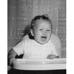 Posterazzi SAL2559719 Close-Up of a Baby Sitting in a High Chair & Crying Poster Print - 18 x 24 in.