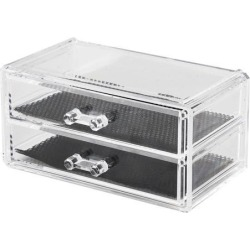 Acrylic Square Makeup Organiser Cosmetic Storage Mascara Brush Lipstick Eyebrow Pencils Holder Clear Makeup Display Box